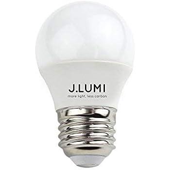 J.LUMI BPC4505 LED Light Bulb 5W, A15 Bulb, G45 Bulb Shape, Replaces 40W Incandescent, E26 Medium Base, 3000K Warm White, Not Dimmable