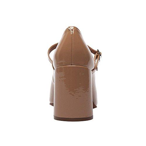 Linea Paolo Brandt Kvinna Loafers - Box Häl Punkt Tå Mary Jane Dagdrivaren Mörk Nude Patent