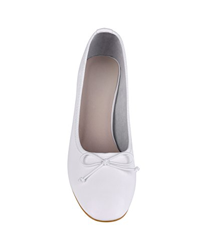 Tacón Mujer Aguja 5595 Elegante Zapatos Krisp Fiesta Vestir Fino Bajo Blanco Medio wE5XTPq1