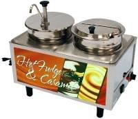 Benchmark USA 51074H Hot Fudge/Caramel Warmer (2) 7 qt. wells 2 stainless steel