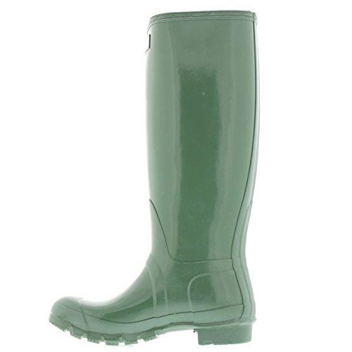 Hunter Original Tall Gloss w23616, Damen Stiefel grün (Moss Green)