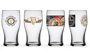 Guinness Boxed Tulip Glasses (Set of 4), Clear by PB Licensing