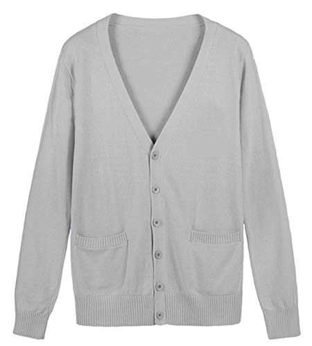 ROLECOS Girls Japanese Preppy Style Sweater School Uniform Cardigans Grey XL