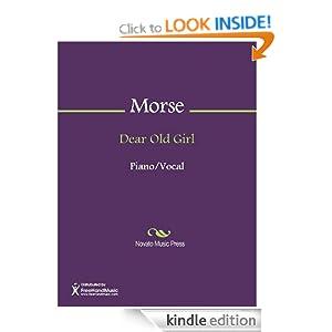 Dear Old Girl Sheet Music Theodore F. Morse