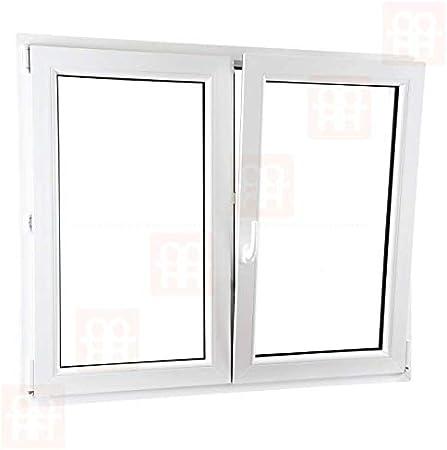 rechts 1400x1400 mm Kunststofffenster 140x140 cm | wei/ß Zweifl/ügelige ohne Pfosten