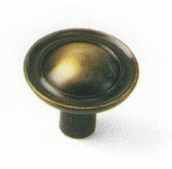 Laurey 75505 1-Inch Classic Traditions Ambassador Knob, Antique Brass