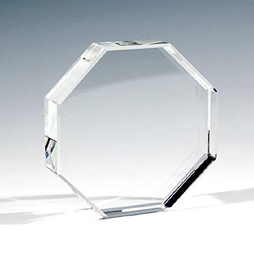 [해외]NKTR-0092 크리스탈 페이퍼 웨이트 문 진 8 각형 형식 80mm 유리 소재 유리 플레이트 얇은 디스플레이 / NKTR-0092 Crystal Paper Weight Paper Weight Octagonal 80mm Glass Plate Glass Plate Shooting Display