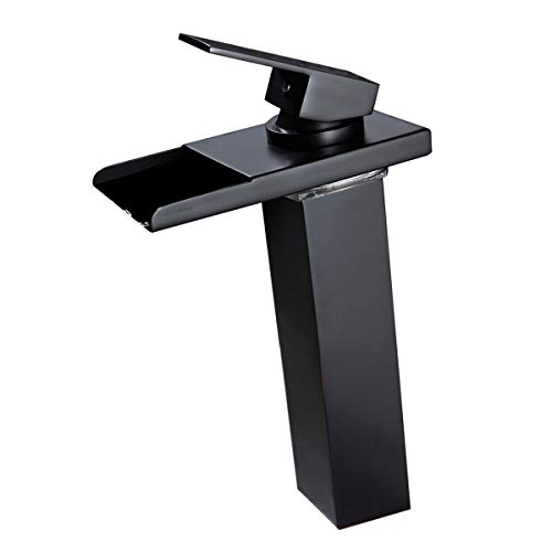 vessel sink faucet waterfall - 6