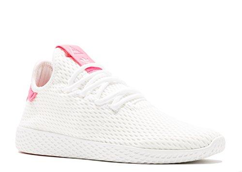 adidas Mens Pw Tennis Hu Sneaker (11.5 D(M) US, White/Semi Solar Pink)