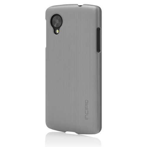 Incipio Feather Shine Case for LG Nexus 5 - Retail Packaging - Silver/Black