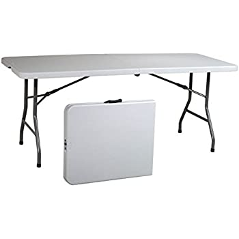 white folding table amazon and chairs bistro office star resin multipurpose rectangle feet center