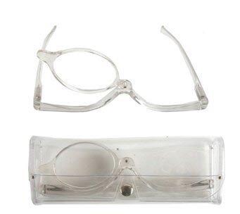 Schminkbrille Klar Sehstärke 1,5 dpt Make Up Brille Schminkhilfe zum schminken Karneval Schminke Kostüm Verkleidung