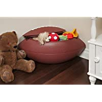 Safari Swings Football Shaped Toy Box, Toy Chest. Rugged HDPE Construction