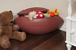 Safari Swings Football Shaped Toy Box, Toy Chest. Rugged HDPE Construction by Safari Swings