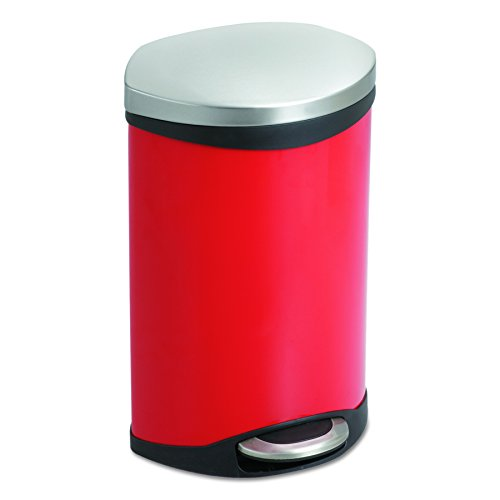 Fits Waste Receptacle (Safco Products 9901RD Ellipse Step-On Waste Receptacle, 3-Gallon, Red)