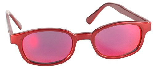 KD's Fire Metallic Red Frame Red Lens Sunglasses Harley ASO Sons of - Asos Sunglasses