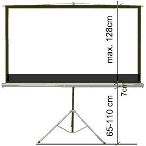 portable 92 16:9 projector screen telescopic tripod