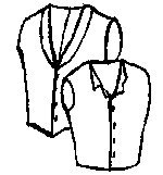 1850s to Late 1800's Vest with Step or Shawl Collar Pattern (Size- Medium (Cowboy Vest Pattern)