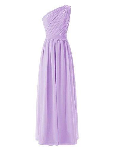 Brautjungferkleider One Fanciest Party Lang Gray Damen Shoulder Lavender Formelle Wedding Kleider wOwUIqAH