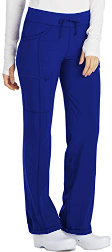 Cherokee Infinity 1123A Low Rise Drawstring Pant Galaxy Blue 2XL