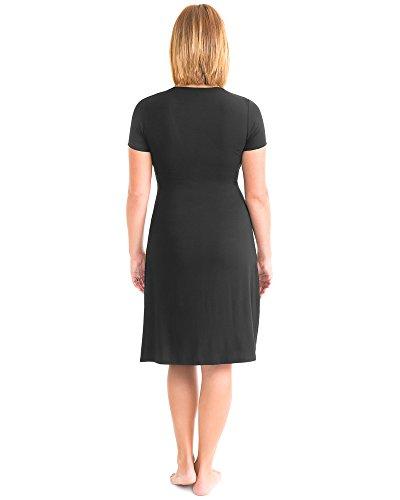 b22630e7b72be Kindred Bravely Angelina Ultra Soft Maternity & Nursing Nightgown Dress  (Black, Large)