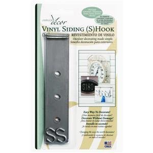 Vinyl Siding S Hook (2-Pack) (Siding Outdoor Decor Vinyl Hook)