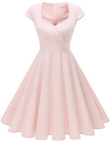 ff6fc1acab0e Homrain Women's 1950s Retro Vintage Cap Sleeve Rockabilly Swing Dress  Cocktail Dresses
