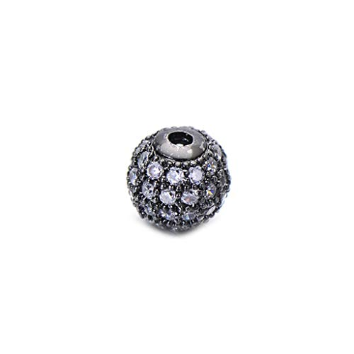 Arm Decoration DIY Black CZ Spacer Drops 6mm 8mm 10mm Copper Mineral Crystal Round Beads with Regard to Jewelry Making Bracelets Results Wholesale
