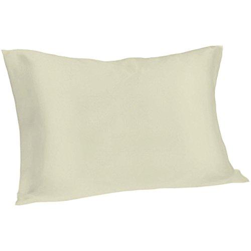 Spasilk 100% Pure Silk Pillowcase for Facial Beauty and Hair Health, Standard/Queen, Ivory