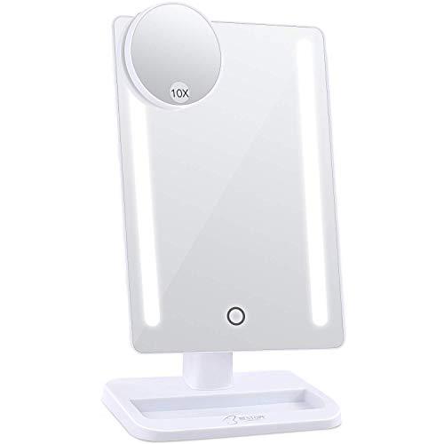Puhui Digital Natural LED Light 24 LED Makeup 12 inch Larger Vanity Mirror, White