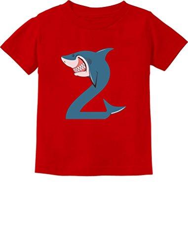 TeeStars - 2nd Birthday Shark Party Gift for