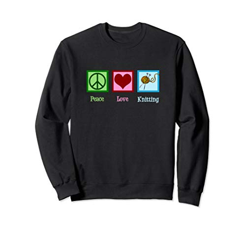 Cute Peace Love Knitting - Knit Gift Sweatshirt ()