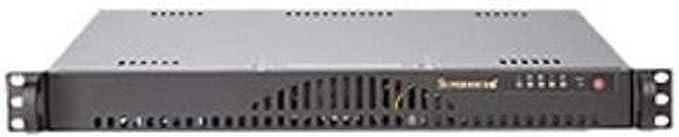 Supermicro SC512L-200B Carcasa de Ordenador Estante Negro 200 W - Caja de Ordenador (Estante, Servidor, ATX, Negro, 1U, 200 W)