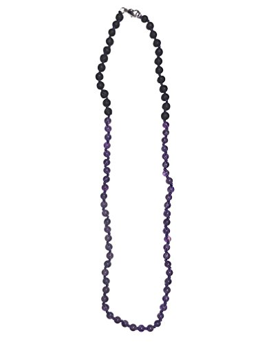 Essential Oil Diffuser and Gemstone Necklace for Kids Aromatherapy on the Go for Natural Relief (Lava, Amethyst) ()
