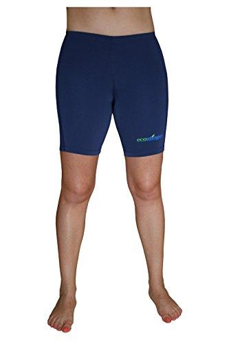 Women Sun Protective Clothing Swimming Long Shorts UVA And UVB Sunblock Navy