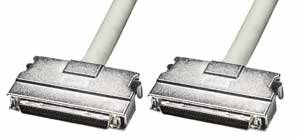 Lindy SCSI-III Cable with Clip Type Hoods (68 Way Half Pitch D Male), 1m (30690) by LINDY
