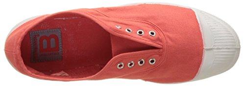 Bensimon Tennis Elly Femme, Zapatillas de Deporte de lona Mujer Rojo (coquelicot)