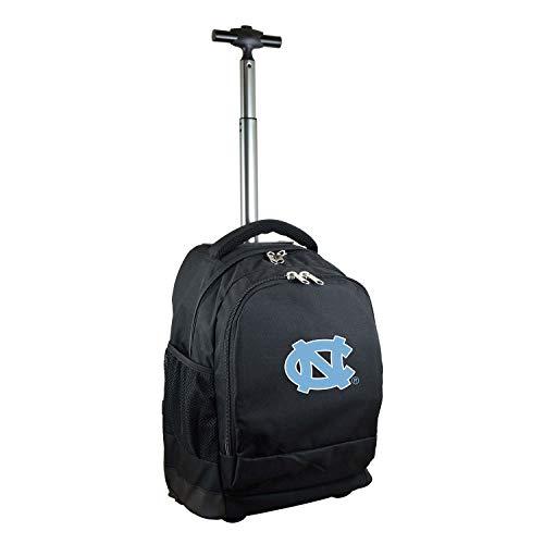 NCAA North Carolina Tar Heels Expedition Wheeled Backpack, 19-inches, Black