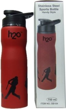 H2O SB 104 Stainless-Steel Sports Water Bottle, 750ml (Red)