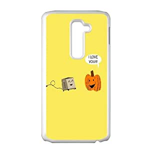 Pumpkin Loves The Toaster Funny 0 LG G2 Cell Phone Case White Exquisite designs Phone Case KMJJ8675