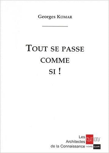 Livre Tout se passe comme si ! epub, pdf