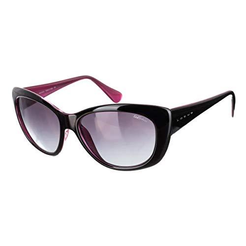 de Noir Sunglasses Femme Lotus soleil Lunette taille unique Noir OxvfSRqS