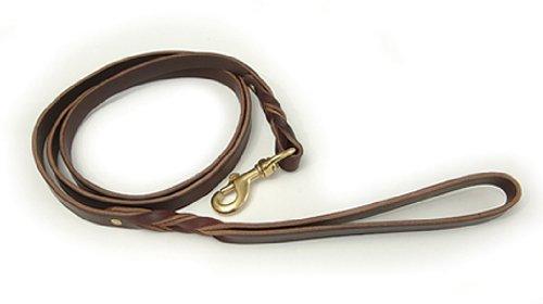 Braided Latigo Leather Leash - 3/4