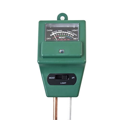 Greatlizard Giardino Suolo PH Meter, Igrometro, Illuminometer, Tripla Suolo PH