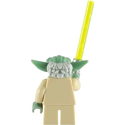 Lego Star Wars: Master Yoda Minifigure With Green Lightsaber: Toys & Games