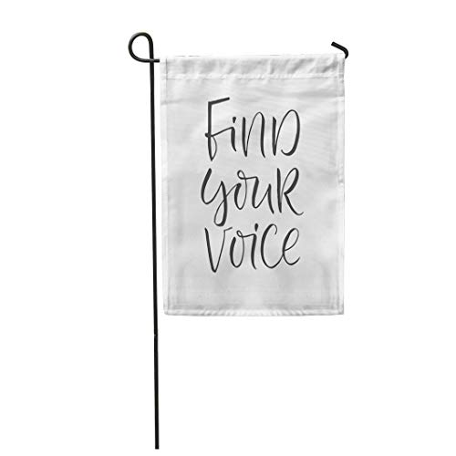 Tarolo Decoration Flag Alarm Word Brush Pen Lettering Phrase Find Your Voice Alert Announce Announcement Thick Fabric Double Sided Home Garden Flag 12
