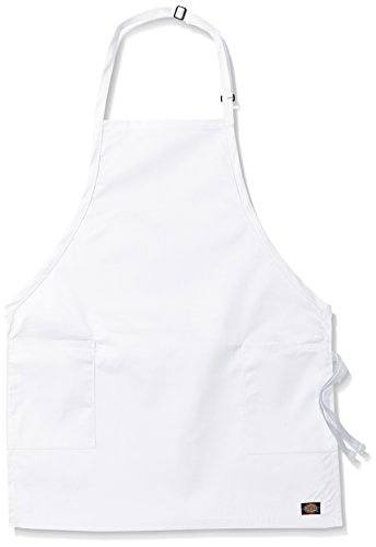 Dickies Chef Women's 3 Pack Adjustable 2 Pocket Bib Apron, White, One Size by Dickies