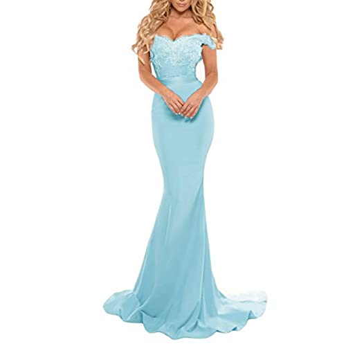 Light Blue Evening Dress Mermaid: Amazon.com