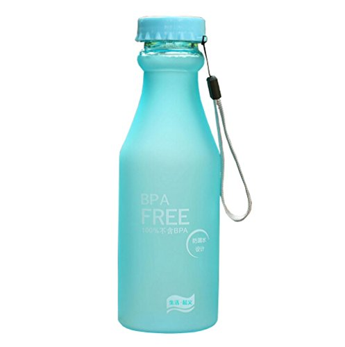 Portable BPA Free Water Bottle for Travel, Yoga Cycling, Running, Camping, 550ml