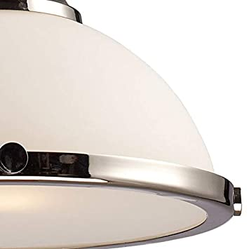 Elk 66113-1 Chadwick 1-Light 14-Inch Pendant, Polished Nickel With Frosted Glass